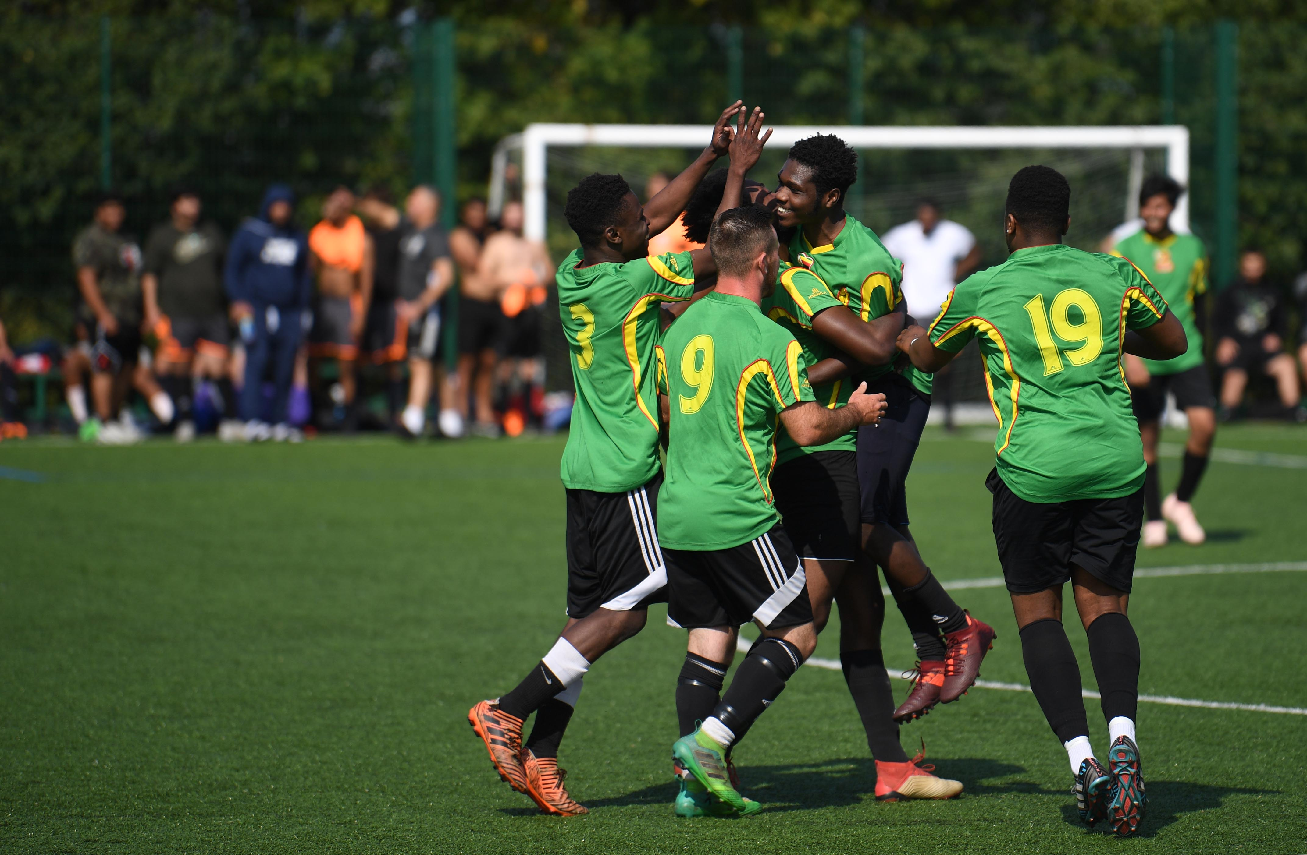 Football helping refugees find their feet in England