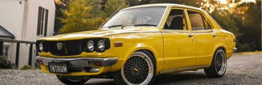 Rare yellow 1976 Mazda